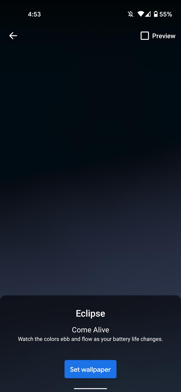Pixel 4aの地味ながら粋な新機能 節電にもチョット役立つ Eclipse ライブ壁紙 アンドロイドネクスト